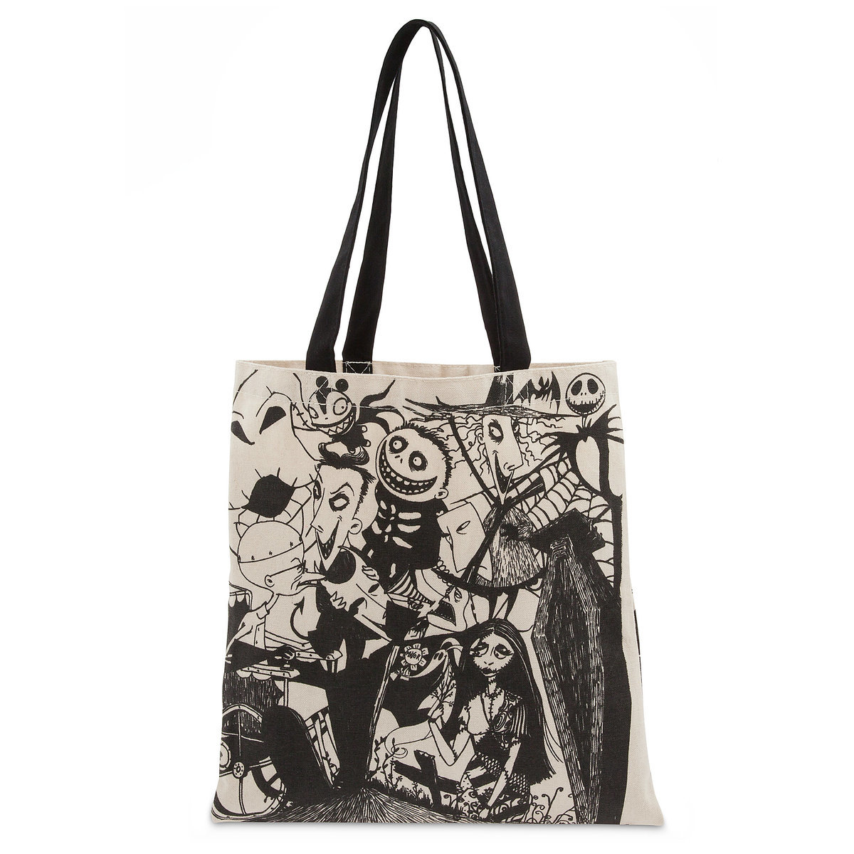 product image of the nightmare before christmas canvas tote bag 1