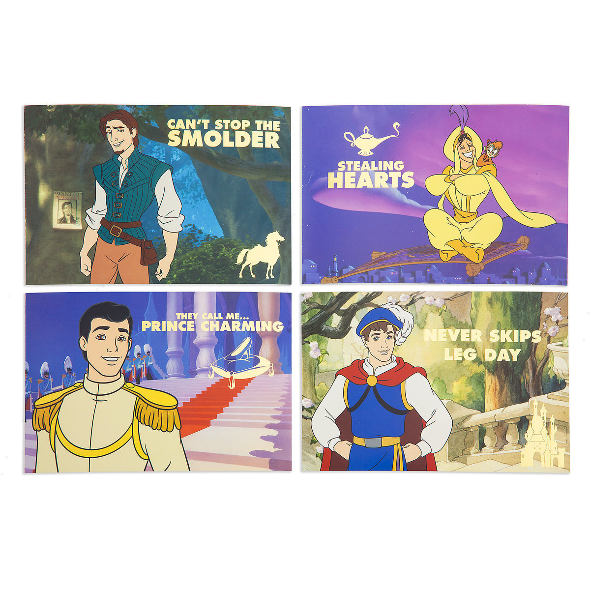 Disney Prince Postcard Set Oh My Disney Shopdisney