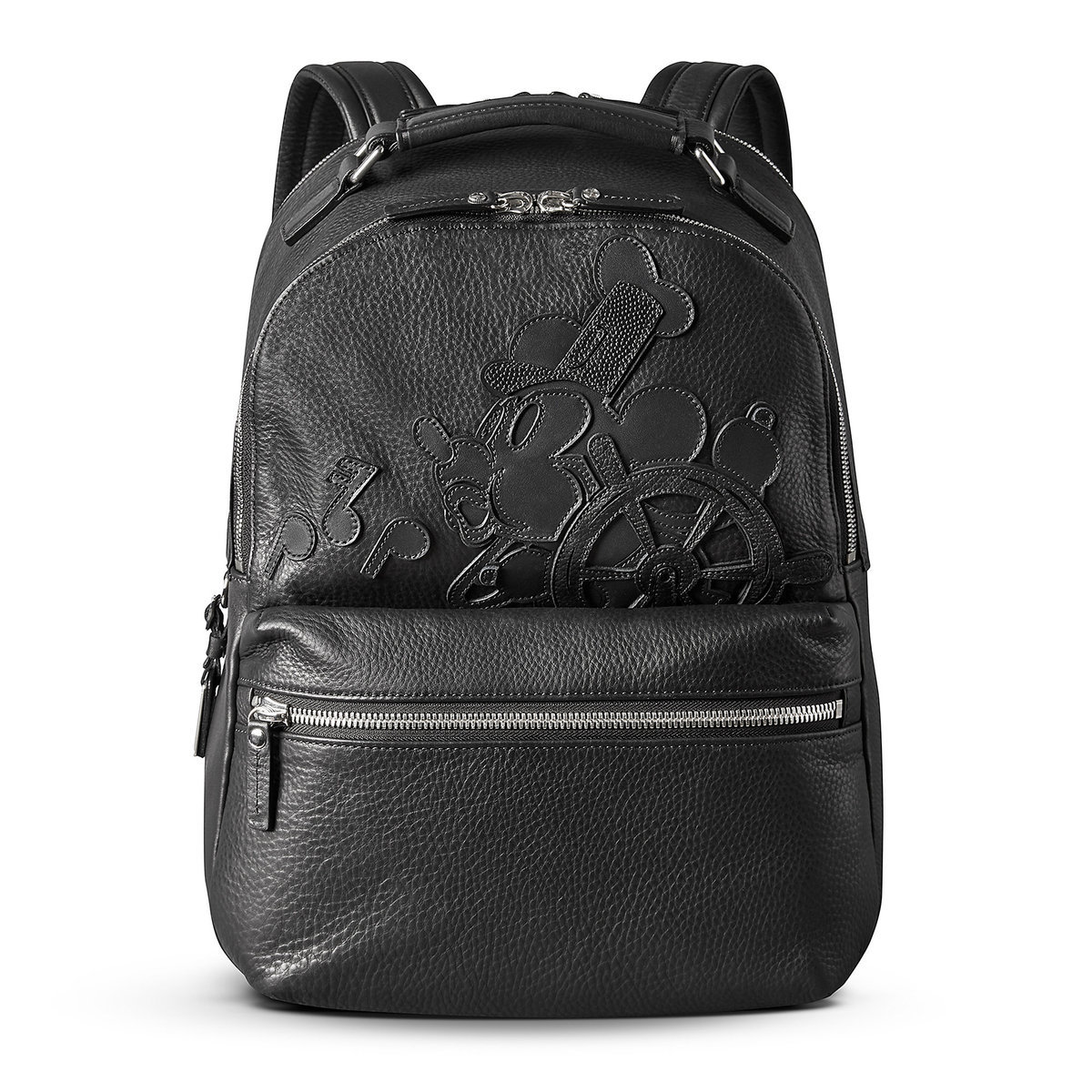 3b20c48433e Mickey Mouse Steamboat Willie Leather Backpack by Shinola