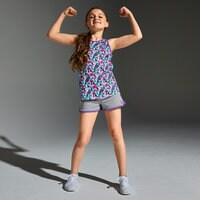 Image of Disney Princess Reversible Performance Tank Top for Girls by Our Universe # 3