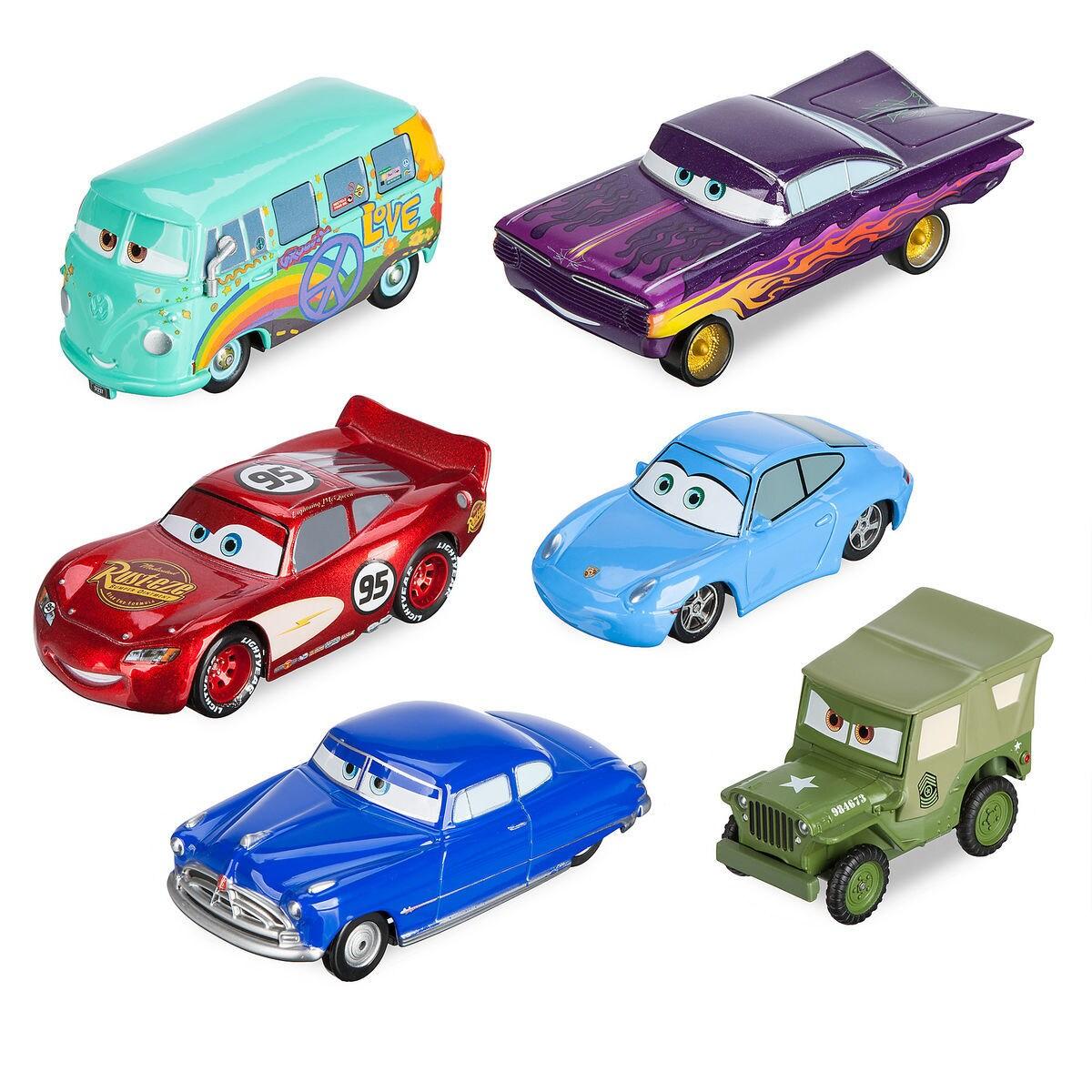 Mack Friction Motor Hauler Truck Plus Six Pullback Cars Set Shopdisney