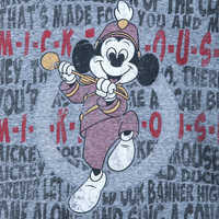 Image of Mickey Mouse Club Lyrics Ringer T-Shirt for Men # 2