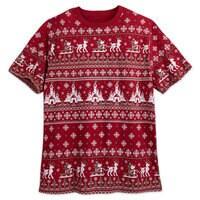 Mickey Mouse Holiday Cross Stitch T-Shirt - Adults