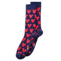 Image of Mickey Mouse Navy and Red Socks - Adults # 2