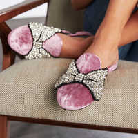 Image of Minnie Mouse Bow Mules for Women by Chiara Ferragni - Pink # 2
