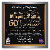Image of Sleeping Beauty Coin Set - 60th Anniversary - Limited Edition # 5