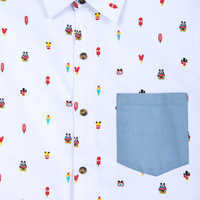 Image of Mickey Mouse Summer Fun Woven Shirt for Men # 4