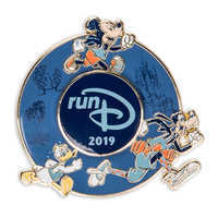 Image of Mickey Mouse and Friends runDisney 2019 Spinner Pin - Limited Release # 1