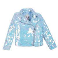 Image of Elsa Sequin Moto Jacket for Girls # 1