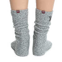 Image of Mickey Mouse Socks for Women by Barefoot Dreams - Light Gray # 3