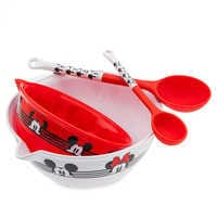 Image of Mickey and Minnie Mouse Mixing Bowl and Spoon Set - Disney Eats # 1