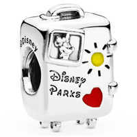 Image of Mickey and Minnie Mouse ''Vacay Mode'' Suitcase Charm by Pandora Jewelry # 2