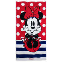 Image of Minnie Mouse Polka Dot Beach Towel - Personalizable # 1