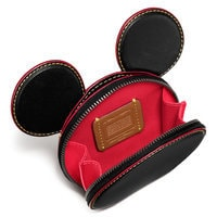 Mickey Mouse Ears Leather Coin Purse by COACH - Black