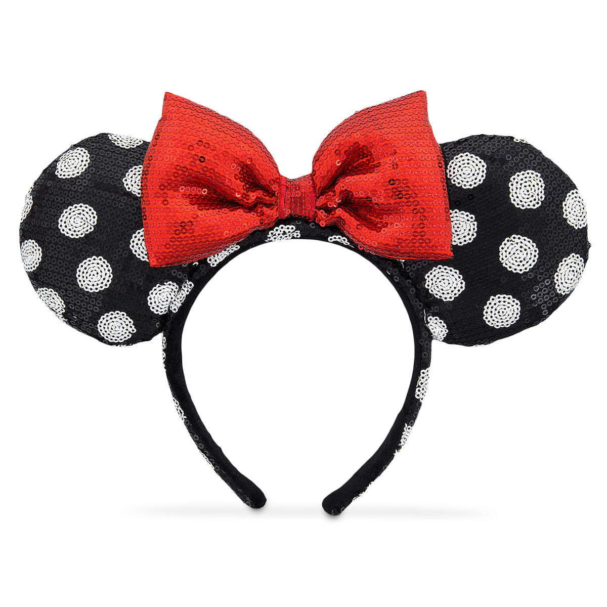 e8cb82ab280 Product Image of Minnie Mouse Ear Headband - Black and White   1