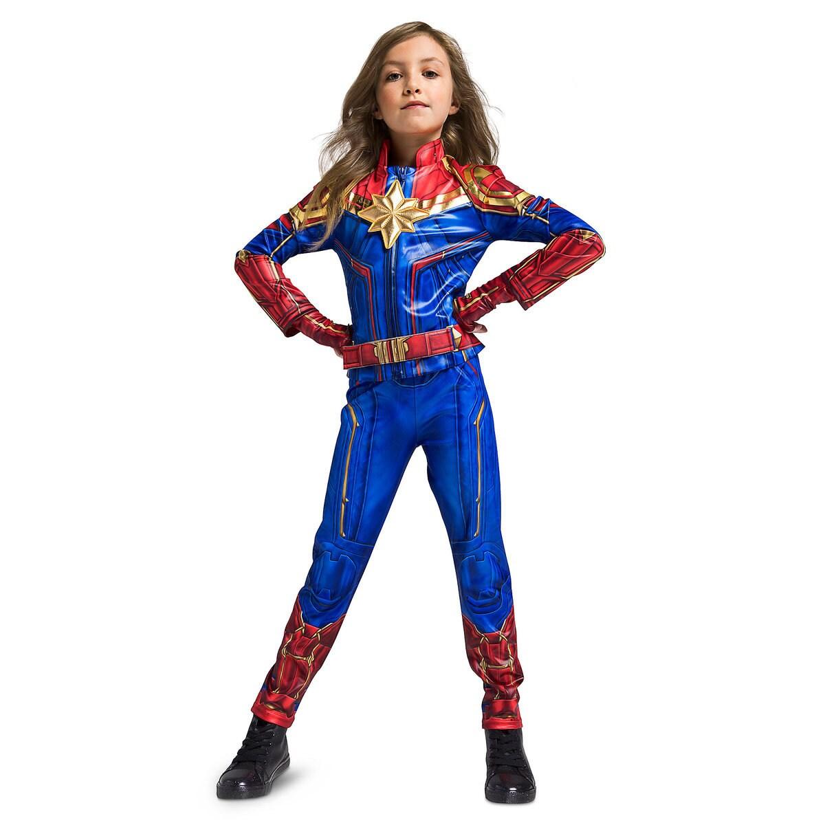 marvel's captain marvel costume for kids   shopdisney