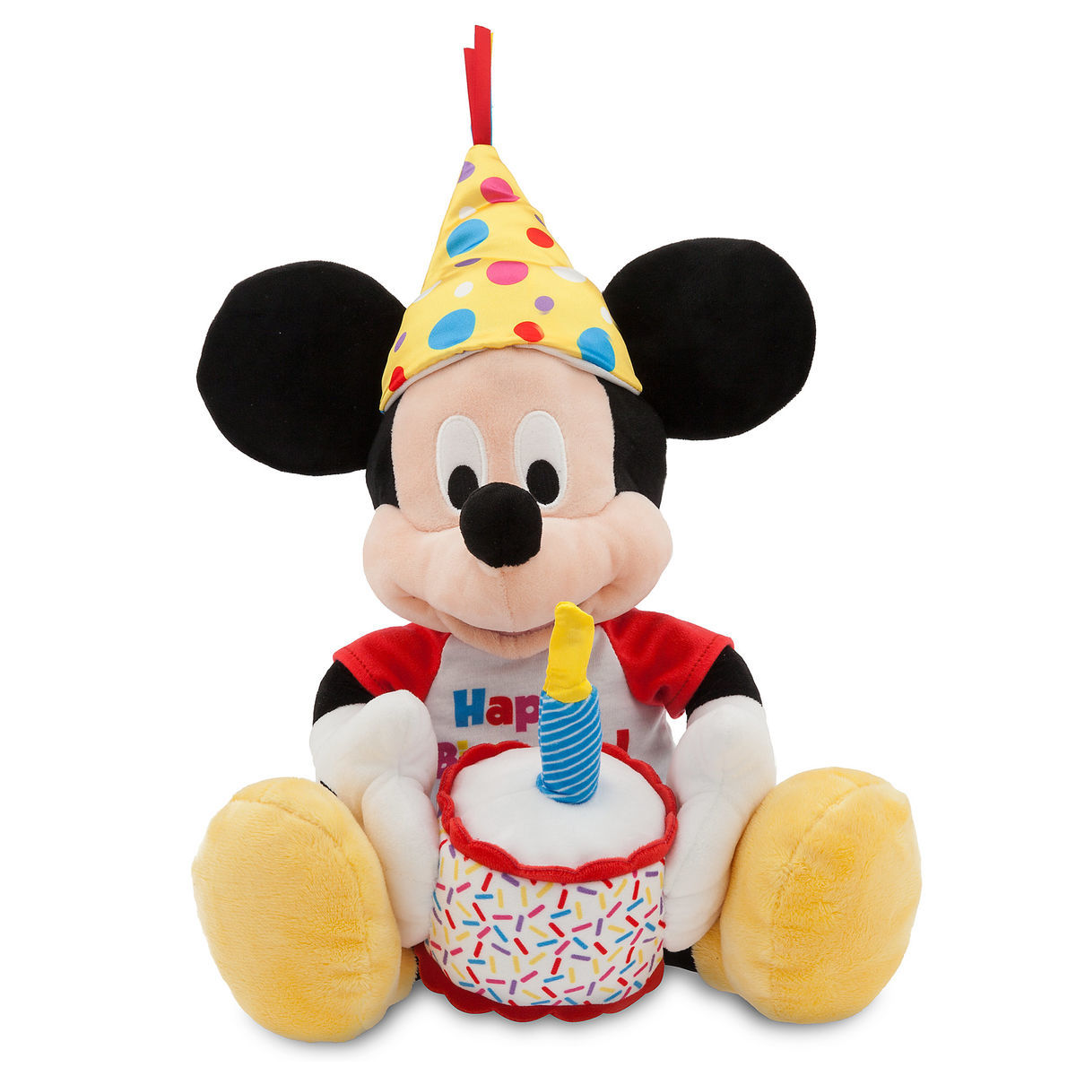 Mickey Mouse Happy Birthday Musical Plush Medium 13 Shopdisney