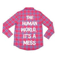 Image of Sebastian Flannel Shirt for Adults by Cakeworthy - The Little Mermaid # 1