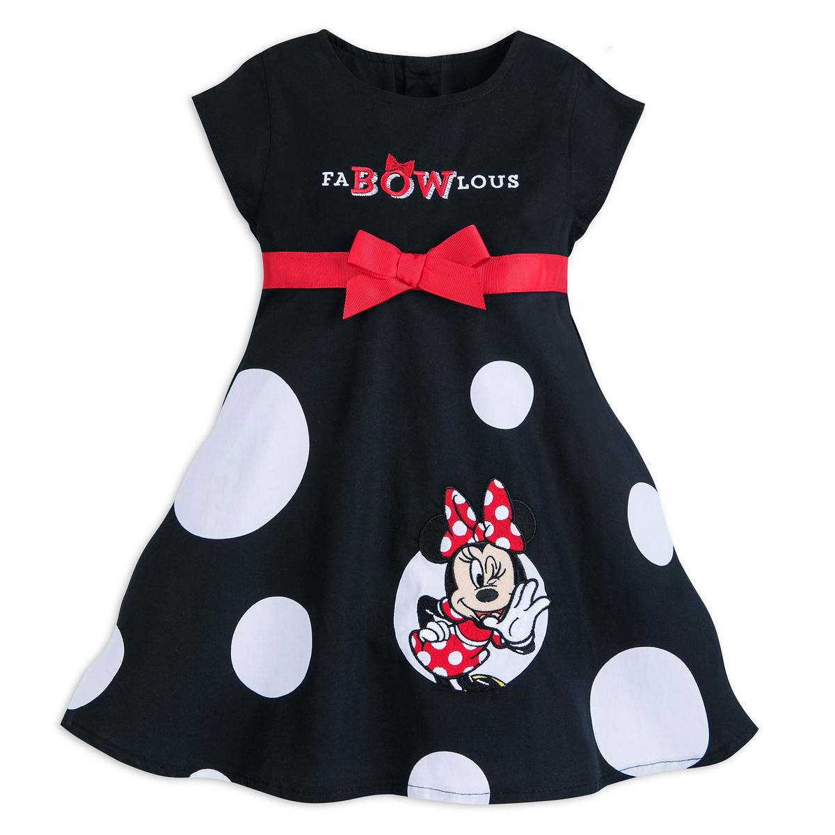 07a8a8b51 Minnie Mouse   FaBOWlous   Woven Dress for Baby