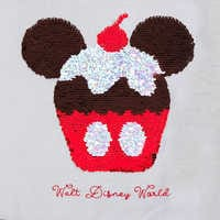 Image of Mickey Mouse Cupcake Reversible Sequin T-Shirt for Women - Walt Disney World # 3