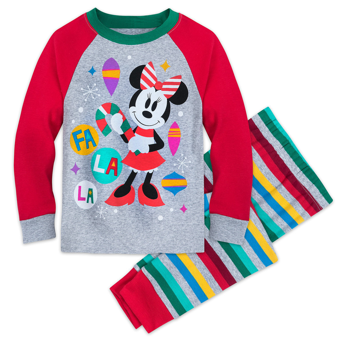 bc90a6d1d Product Image of Minnie Mouse Holiday PJ Set for Girls # 1