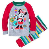 Image of Minnie Mouse Holiday PJ Set for Girls # 1