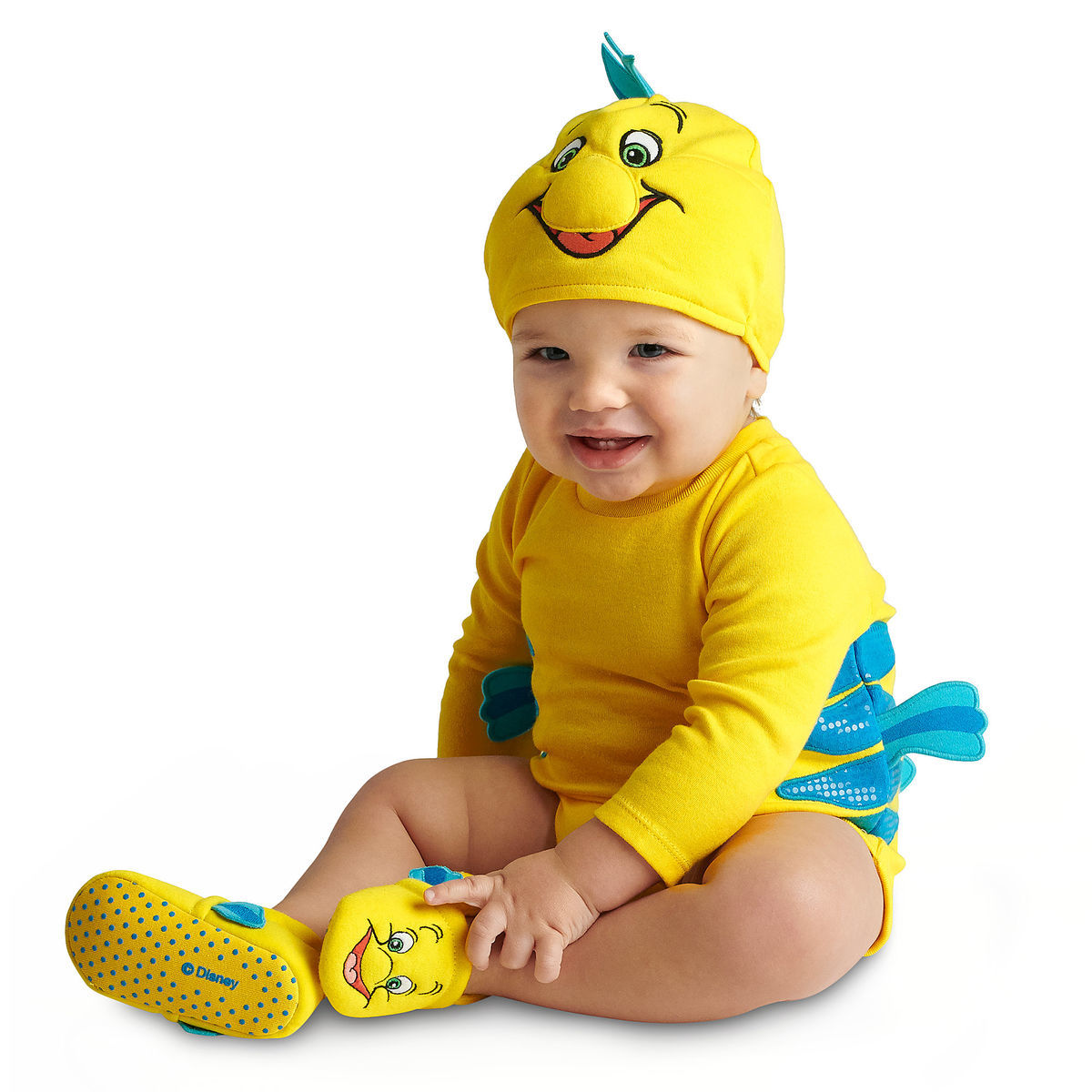 Flounder Costume Bodysuit Collection For Baby The Little Mermaid