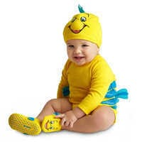 Image of Flounder Costume Bodysuit Collection for Baby - The Little Mermaid # 1