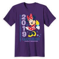 Image of Minnie Mouse Family Vacation T-Shirt for Adults - Disneyland 2019 - Customized # 3