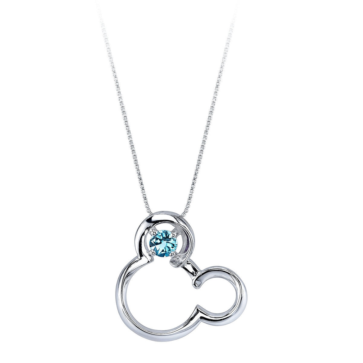aquamarine rose silver march birthstone slider signature wexford necklace