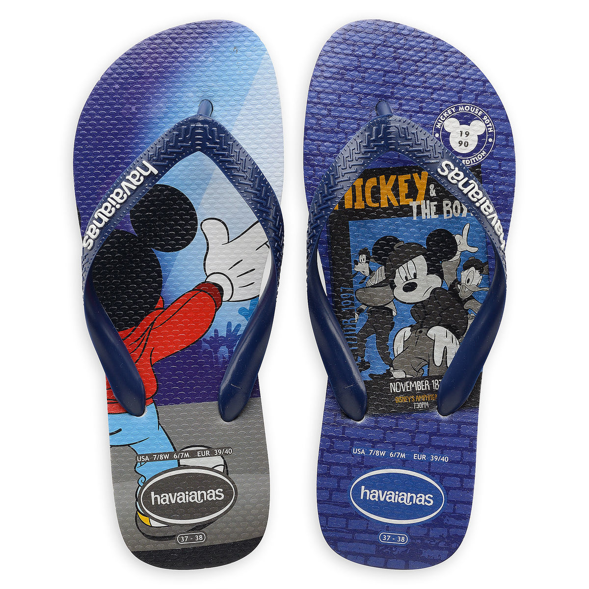 c8327fc7d5acc Product Image of Mickey Mouse and Friends Boy Bands Flip Flops for Adults  by Havaianas -