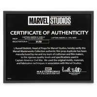 Image of Captain America Shield with Black Panther Claw Marks - Marvel Masterworks Collection Authentic Film Prop Duplicate - Limited Ed. # 10