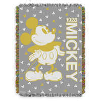 Image of Mickey Mouse Golden Woven Tapestry Throw # 1