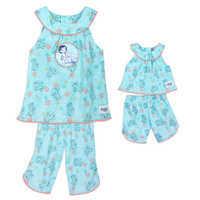 Image of Disney Animators' Collection Moana Matching Pajama Set for Kids and Doll # 1