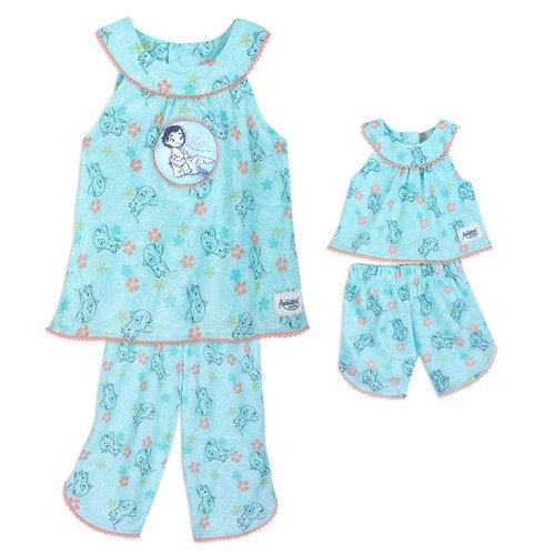 Disney Animators' Collection Moana Matching Pajama Set for Kids and Doll