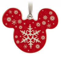 Image of Mickey Icon Ornament - Snowflake # 1