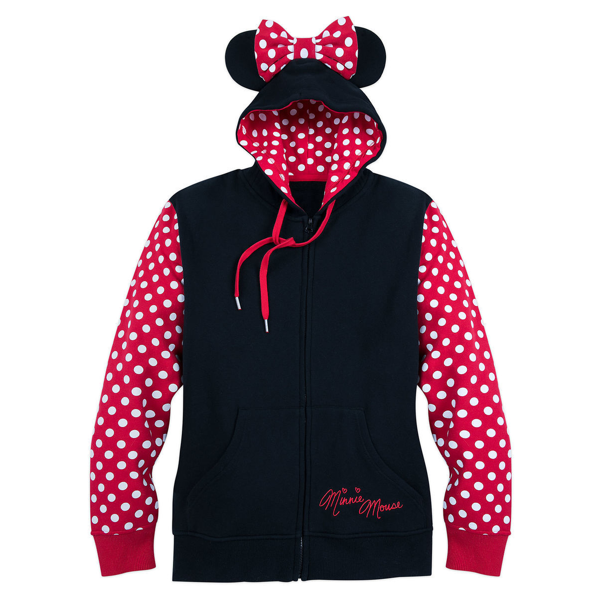 I Am Minnie Mouse Zip Fleece Hoodie For Women Shopdisney