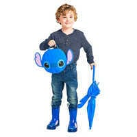 Image of Stitch Packable Rain Jacket and Attached Carry Bag for Kids # 6