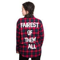 Image of Snow White Flannel Shirt for Adults by Cakeworthy # 4