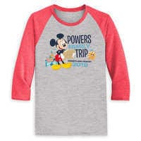 Image of Mickey Mouse Family Vacation Raglan Shirt for Men - Disneyland 2019 - Customized # 1