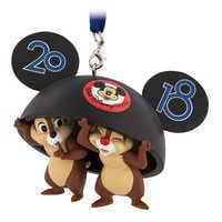 Image of Chip 'n Dale Ear Hat 2018 Ornament - Walt Disney World # 1