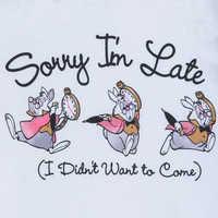 Image of White Rabbit T-Shirt for Women - Alice in Wonderland # 3