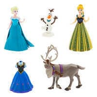 Image of Anna and Elsa Dress Up Figure Set # 1