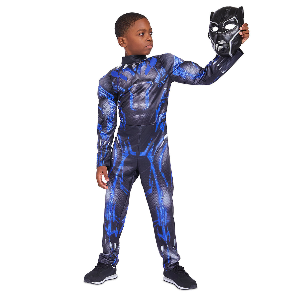 b5d5b20a2e79 Product Image of Black Panther Light-Up Costume for Kids # 1