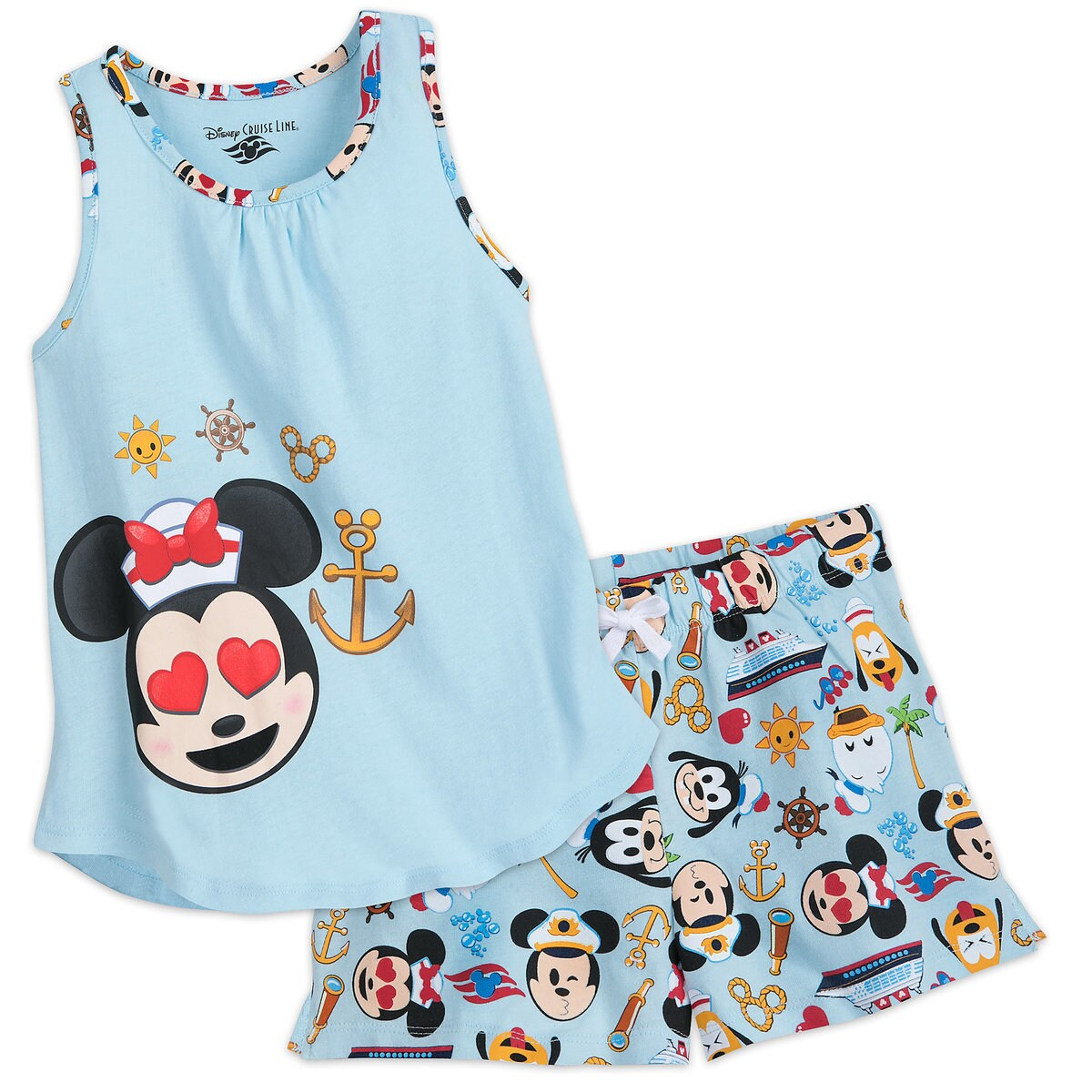Minnie Mouse Emoji Tank Top and Shorts Set - Disney Cruise Line ...