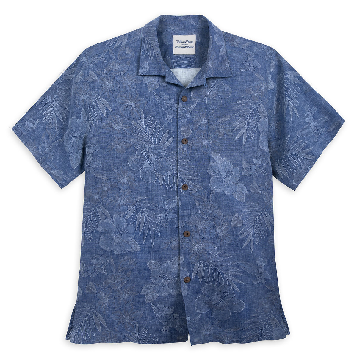 3205590f Product Image of Mickey Mouse Jacquard Aloha Silk Shirt for Men by Tommy  Bahama - Blue
