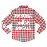 Image of Hakuna Matata Flannel Shirt for Adults by Cakeworthy - The Lion King # 1