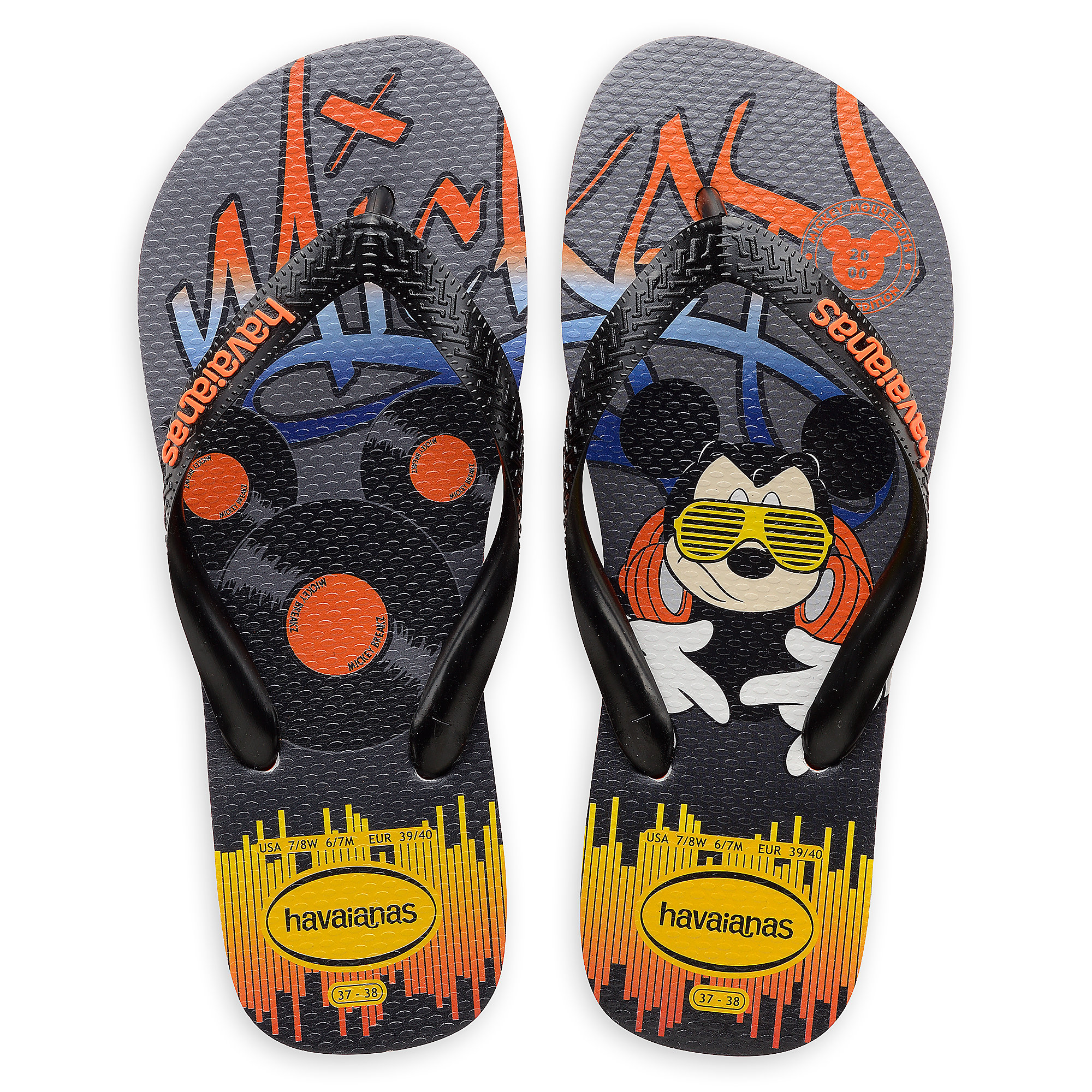8d43fe2d7f472 Mickey Mouse Hip Hop Flip Flops for Adults by Havaianas - 2000s now ...