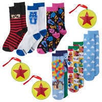 Image of Pixar Holiday Socks in Ornaments Collection for Adults # 1