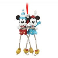 Mickey and Minnie Mouse Sketchbook Ornament - Vintage Toy Series